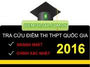 Tin tức trong ngày - Xem điểm thi THPT Quốc Gia 2016 của 70 cụm thi Đại học