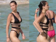Thời trang - Chân dài 9X nóng bỏng với bikini khoét hông táo bạo