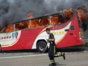 Du lịch - 23 du khách TQ chết thảm vì xe buýt cháy ở Đài Loan