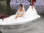 """Phim - """"Tiểu Long Nữ"""" tự chèo thuyền đến lễ cưới"""