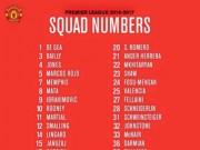 Bóng đá - MU công bố số áo mùa 2016/17: Số 6 chờ Pogba