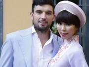Thời trang - Hà Anh e ấp bên hôn phu Tây trong lễ ăn hỏi