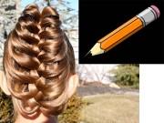 Làm đẹp - Khám phá những cách xoắn, tết tóc bằng bút chì
