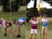 Thể thao - Golf 24/7: 2 cậu nhóc so tài đánh 1 gậy trúng lỗ