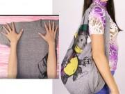 Thời trang - 5 phút biến áo phông cũ thành túi xách dễ thương