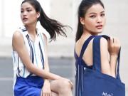 Thời trang - Chà Mi Next Top Model xuống phố với sắc xanh mát mắt
