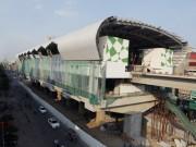 Tin tức trong ngày - Ảnh: 12 nhà ga đường sắt Cát Linh-Hà Đông dần thành hình
