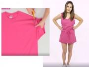 Thời trang - Tự tạo váy đi biển mát mẻ từ áo phông cũ