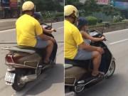 Tin tức trong ngày - Clip: Thót tim xem bé trai lái xe máy vi vu giữa HN