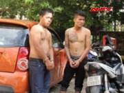 Video An ninh - Hai siêu trộm ô tô nhảy xuống kênh chạy trốn công an