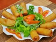 Ẩm thực - Tuyệt chiêu cho món nem chay rán vàng thơm nức