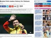 Thể thao - Báo chí thế giới sửng sốt vì HCV lịch sử Hoàng Xuân Vinh