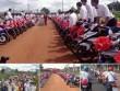 Rước dâu bằng 90 xe Exciter xôn xao ở Bình Phước