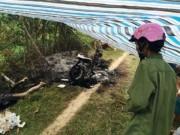 Tin tức trong ngày - Phát hiện một phụ nữ chết cháy cạnh chiếc xe máy