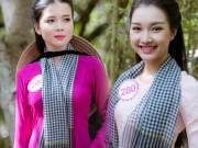Thời trang - Thí sinh Hoa hậu Việt Nam đẹp hút hồn với áo bà ba