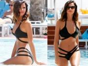 """Thời trang - """"Mỹ nữ dáng đẹp nhất Anh quốc"""" táo bạo với bikini dây"""