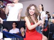 Minh Tuyết được chồng hộ tống đi làm giám khảo