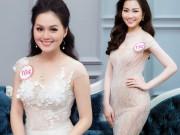 Thời trang - Hoa hậu VN: Thí sinh gợi cảm với đầm ôm sát, xẻ tà