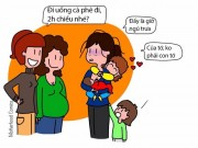 Bạn trẻ - Cuộc sống - 13 bức họa đáng suy ngẫm về bà mẹ bỉm sữa