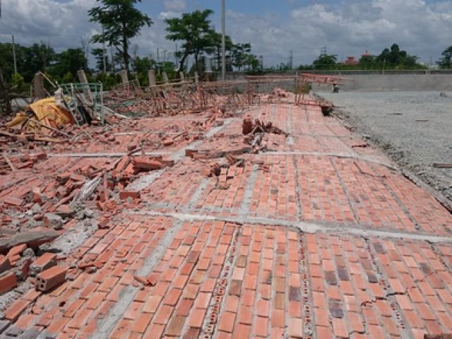 Sập tường nhà xưởng cao 12m, 3 công nhân bị thương