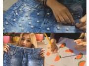 """Thời trang - Chàng """"ớ người"""" nhìn hot girl vẽ họa tiết cho váy áo"""
