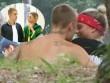 Justin Bieber ôm hôn bạn gái 17 tuổi ngoài công viên