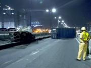Tin tức trong ngày - Container rớt bánh, rơi thùng trên cầu Sài Gòn