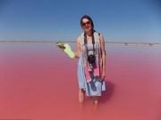 Du lịch - Hồ nước chuyển màu hồng bí ẩn ở Siberia