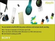 """Thời trang Hi-tech - Sony hứa hẹn """"bùng nổ sản phẩm"""" tại IFA 2016"""