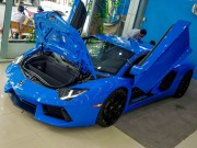 Tin tức ô tô - Chi tiết Lamborghini Aventador màu xanh cực độc tại Việt Nam
