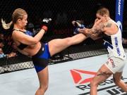 """Thể thao - """"Bóng hồng"""" UFC phi thân tiễn đối thủ nằm sàn"""
