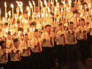 Thế giới - Video 15 vạn người vỗ tay hò reo như sấm đón Kim Jong-un