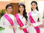Thời trang - Hoa hậu Đỗ Mỹ Linh thướt tha với áo dài đính ngọc trai