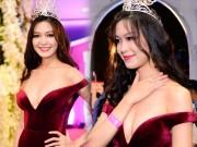 """Váy sexy đến  """" nín thở """"  của Thùy Dung ở chung kết HHVN"""