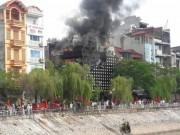 Video An ninh - Hút nước sông Tô Lịch dập cháy quán karaoke