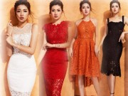 Thời trang - Á hậu Tú Anh đẹp mộng mơ với đầm cổ yếm, voan ren