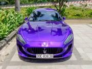 Maserati GranTurismo màu tím  cực độc , biển đẹp trở lại Sài Gòn