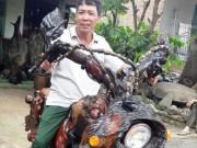 Tin tức trong ngày - Độc đáo: Chiếc mô tô bằng gỗ độc nhất vô nhị ở Lâm Đồng