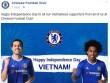 CLB Chelsea, Dortmund chúc mừng Quốc khánh Việt Nam