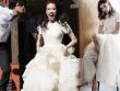 Thư Kỳ chỉ diện váy cưới bình dân trong ngày vu quy