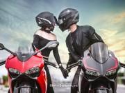 Thế giới xe - Mãn nhãn với bộ ảnh cưới cùng cặp đôi Ducati Panigale 899