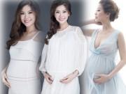 Thời trang - Á hậu Diễm Trang nõn nà, khoe bụng bầu 9 tháng
