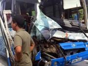 Tài xế xe tải liều mình cứu xe khách mất phanh khi đổ đèo