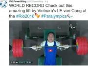 Báo chí quốc tế nể phục nhà vô địch Lê Văn Công