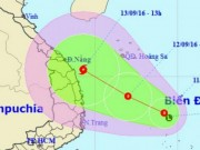 Áp thấp nhiệt đới mạnh lên, hướng vào Quảng Ngãi - Khánh Hòa