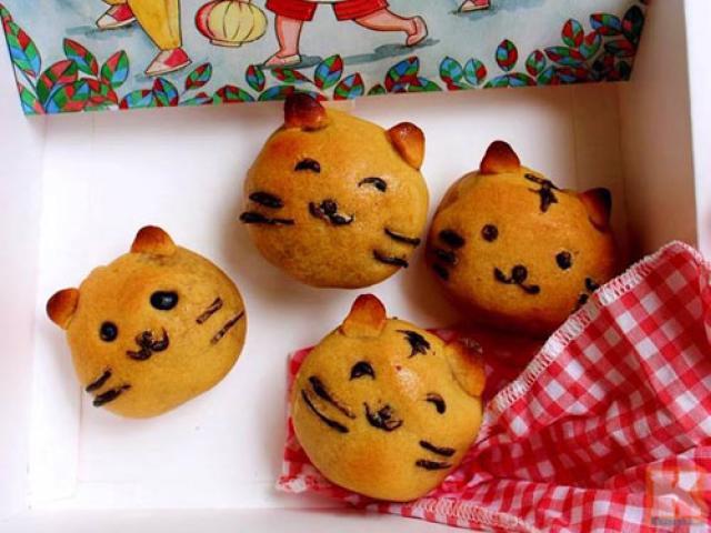 Cách làm bánh Trung thu hình chú mèo ngộ nghĩnh cho bé
