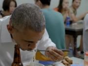 Đoạn phim đầu tiên về bữa bún chả của Obama ở Hà Nội