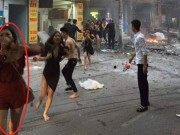 Bạn trẻ - Cuộc sống - Cô gái bị trêu đùa vì lấy áo ngực che miệng ở đám cháy