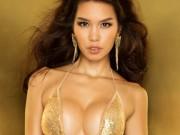 """Thời trang - Siêu mẫu Hà Anh """"đốt mắt"""" với bikini lấp lánh"""