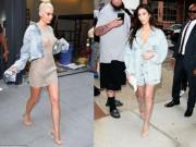 Thời trang - Chị em nhà Kim nhiệt tình lăng xê mốt giày trong suốt